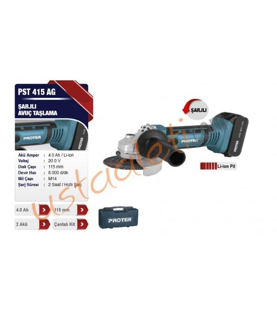 Proter PST 415 AG Şarjlı Avuç Taşlama
