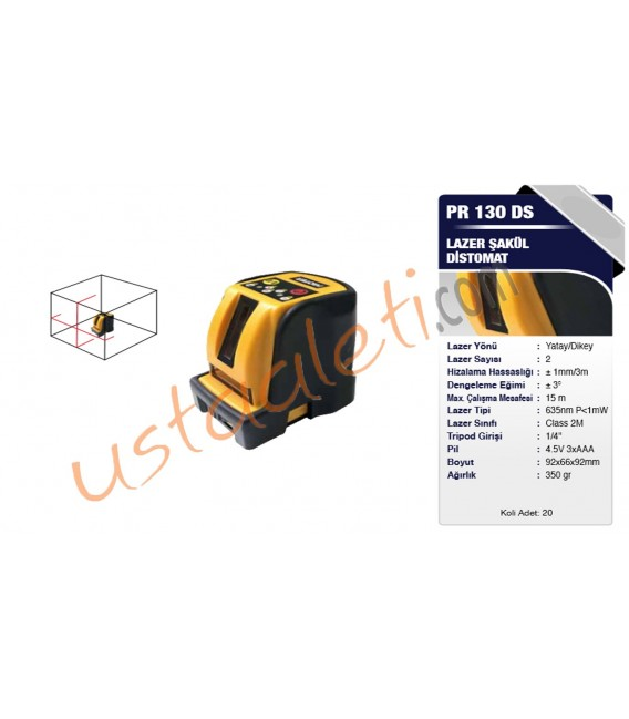 Proter PR 130 DS Otomatik Lazer Şakül/Distomat