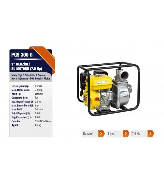 Proter PGS 300 G 3'' Benzinli Su Motoru(7.0 HP)