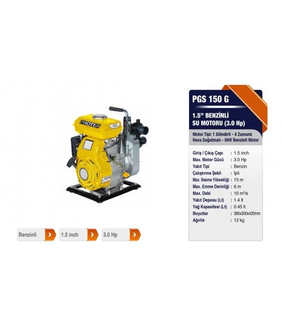 Proter PGS 150 G 1.5'' Benzinli Su Motoru(3.0 HP)