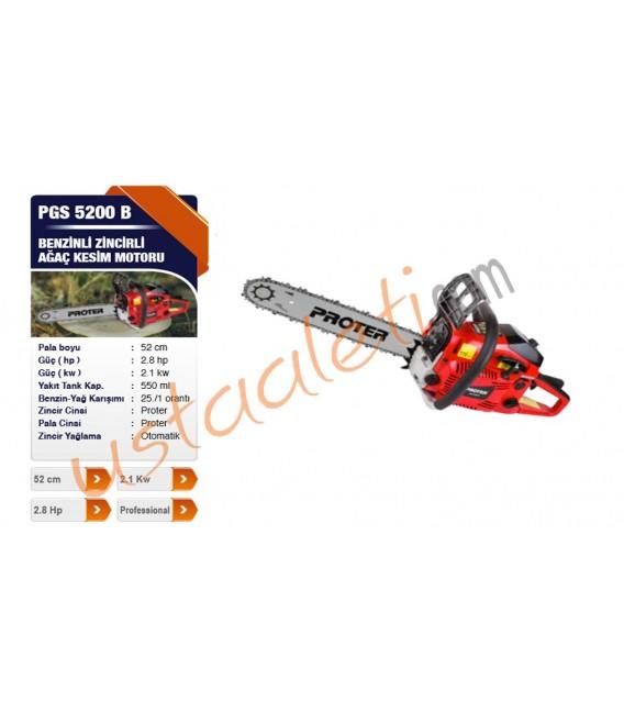Proter PGS 5200 B Benzinli Ağaç Kesim Motoru