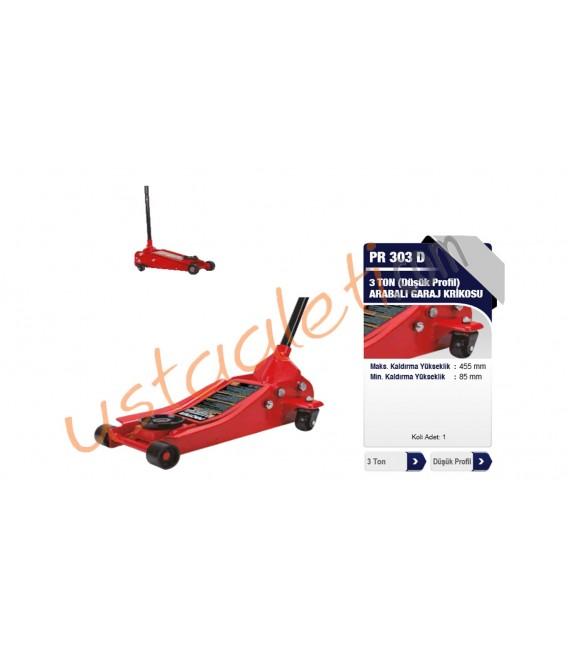 Proter PR 303 D 3 Ton (Düşük Profil) Arabalı Garaj Krikosu