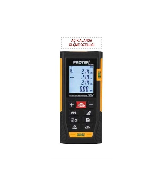 Proter PR 50 LD Lazer Metre(Dış ve İç Mekan Ölçüm)