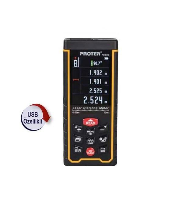 Proter PR 70 USB Lazer Metre(Dış ve İç Mekan Ölçüm)