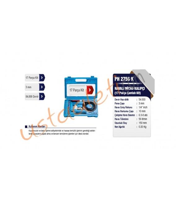 Proter PH 2756 K Havalı Micro Kalıpçı Taşlama Set