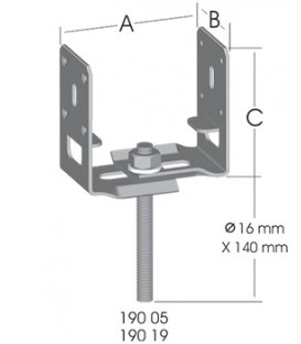 Ermo Ayarlı-Mukavim Pergola Ayağı (2,5 mm)