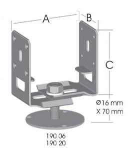 Ermo Ayarlı Tablalı-Mukavim Pergola Ayağı (3 mm)