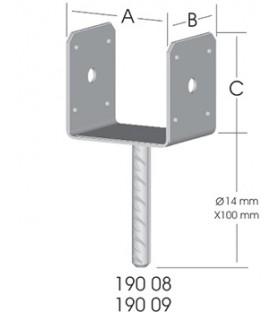 Ermo U-Form 80 Pergola Ayağı