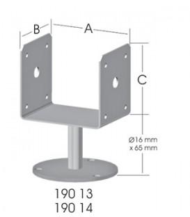 Ermo U-Form 100 Tablalı Pergola Ayağı