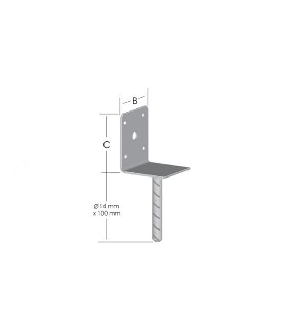 Ermo L-Form Pergola Ayağı