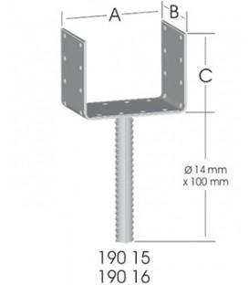 Ermo EKO U-Form 100 Pergola Ayağı