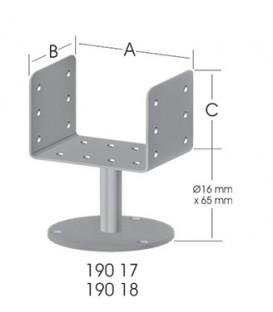 Ermo EKO U-Form 80 Tablalı Pergola Ayağı