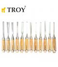 Troy Ahşap Oyma Bıçak Seti Profesyonel 12 parça 25004 (Iskarpale Takımı)