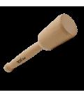 ROX Wood Dikey Silindir Ahşap Tokmak 23 x 5.5 cm