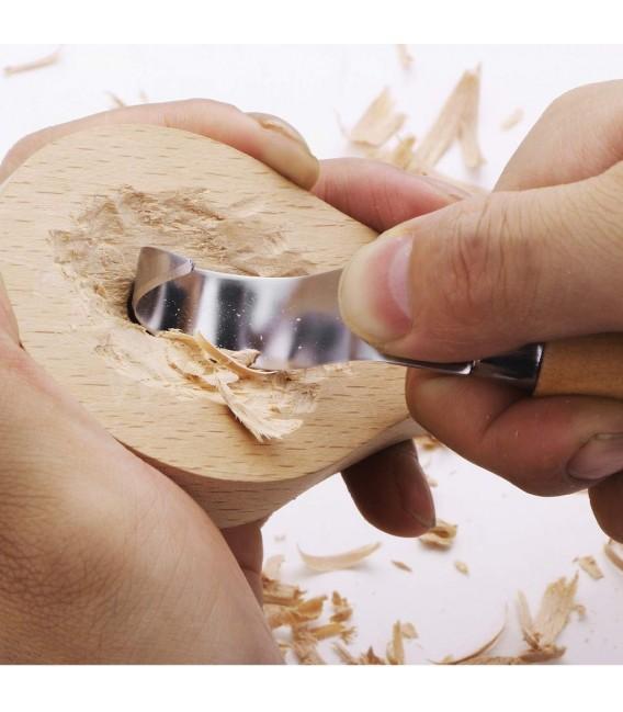 ROX Wood 2 Parça Kaşık Oyma Seti