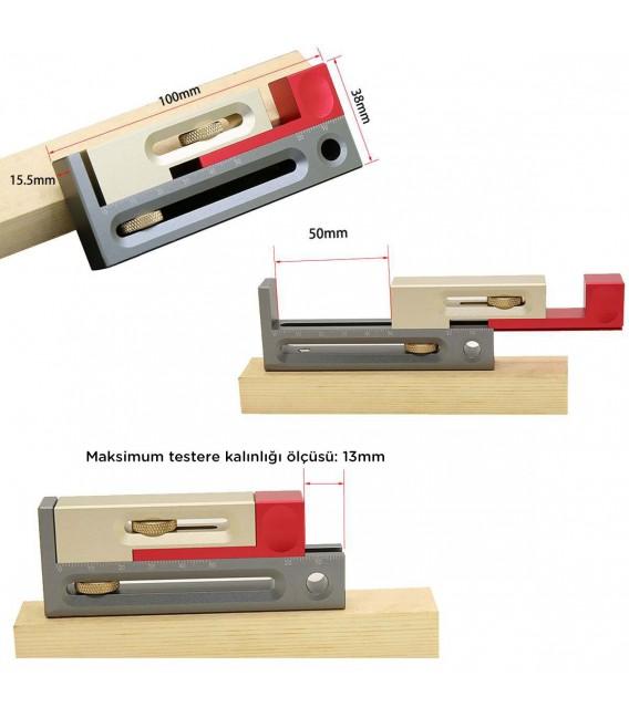 Rox Wood 0040 Alüminyum Hassas Zıvana Boşluk İşaretleme Aparatı