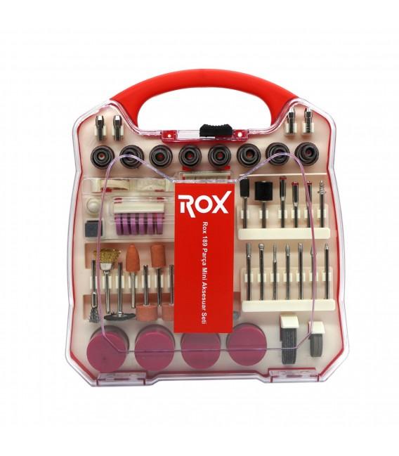 Rox 0075 Hobi Gravür Mini Aksesuar Seti 189 Parça Dremel Uyumlu