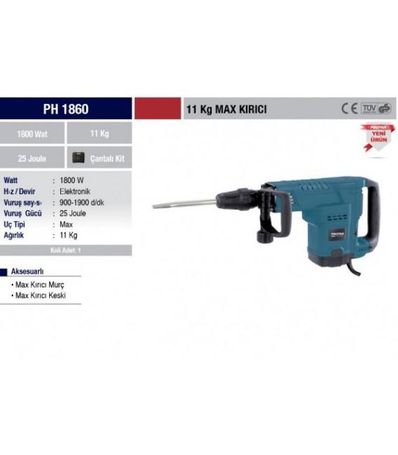 Proter PH 1860 11 KG. SDS MAX Kırıcı