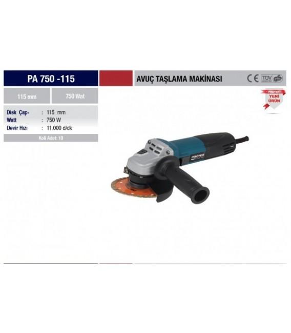 Proter PA 750-115 Avuç Taşlama Makinesi