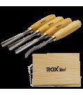 ROX Wood Ahşap Oyma Iskarpela Seti 4 Parça Ahşap Kutulu
