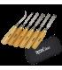 ROX Wood Ahşap Oyma Iskarpela Seti 6 Parça Neopren Çantalı