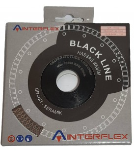 İnterflex 115 mm. İnce Çapaksız Hassas Kesim Elmas Testere Black Line