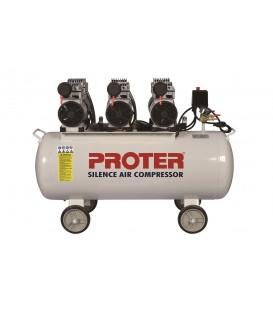 Proter 200 lt. 3 Kafa Yağsız-Sessiz Hava Kompresörü 220 Volt