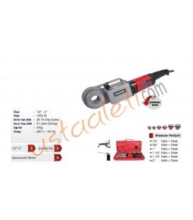 "PR 1520 1/2 - 2"" Elektrikli El Tipi Pafta Makinesi"
